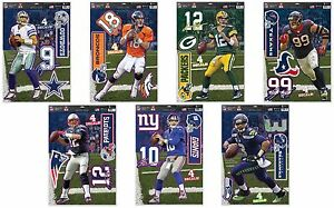 """NFL Assorted Teams Players Wincraft 11"""" X 17"""" 4 Multi-Use Peel-Off Decals NEW!"""