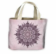 Lilac Mandala All Over Tote Shopping Bag For Life