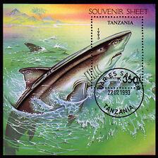 Tanzania BL. 225, O, FISH, SHARKS