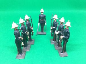 Britains Royal Marines Presenting Arms And Officer Set 2071 Repainted  yel 475
