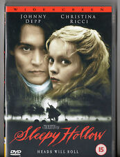 Sleepy Hollow DVD - Region 2 Johnny Depp