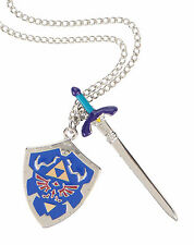 Nintendo THE LEGEND OF ZELDA SWORD & SHIELD PENDANT NECKLACE Officially Licensed