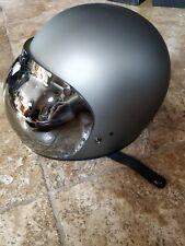 Biltwell Gringo Motorcycle Helmet - Flat Grey XL w/ Tinted Bubble Shield