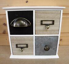 Apothekerschrank / Schubladenschrank Shabby Schmuck  Kleinmöbel 4 Schubladen