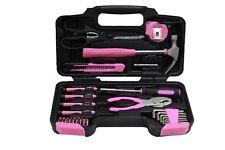 Pink Tool Kit DIY Tools Set in Carry Bag - Hammer, Pliers, Screwdriver - 39pcs