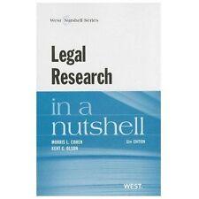 Legal Research in a Nutshell (Nutshells) 11th Edition