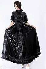 314 Latex Rubber Gummi Ruffles full Dress canonicals party suit customized 0.4mm
