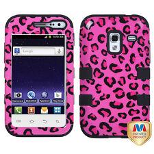 For Samsung Galaxy Admire 4G Rubber IMPACT TUFF HYBRID Case Cover Pink Cheetah