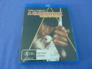 A Clockwork Orange Blu-Ray Stanley Kubrick Malcolm McDowell Free Tracked
