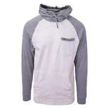 Rip Curl Men's Striped Dark Grey Oatmeal L/S Pullover Hoodie (Small)