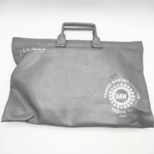 Vintage UAW United Auto Workers Union Briefcase Attache Laptop Bag Faux Leather