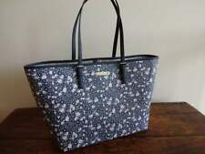 MICHAEL KORS NAVY Blue FLORAL Leather Jet Set LG CARRYALL TRAVEL Shopper TOTE