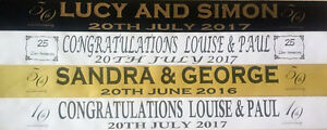 PERSONALISED  WEDDING ANNIVERSARY, ENGAGEMENT BANNERS / DECORATIONS FREE P&P