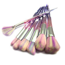 7Pcs Rainbow Glitter Mermaid Horn Makeup Brushes Foundation Cosmetic Contour