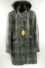 IRISH TWEED Mens Womens ESPRIT OVER Coat HOODED WOOL 40 Small EXCELLENT UP1RL
