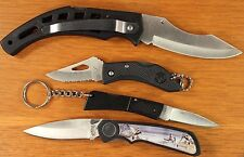 4 Knife Set - Swamp Lizard, Little Whitetail, Fire Fly, Wildlife Nib #Mo84