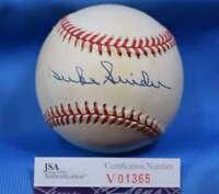 DUKE SNIDER Signed JSA COA American League OAL Baseball Autograph Authentic