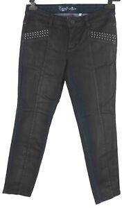 Tom Tailor Jeans W 31  schwarz skinny Carrie  ankle Glanz wie neu Hose