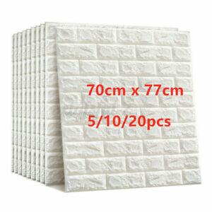 Large 3D Tile Brick Wall Sticker Self-adhesive Waterproof Foam Panel Wallpape