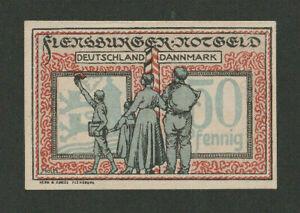 GERMANY DENMARK - FLENSBURG 50 Pfennig Plebiscit Note 1920 UNCIRCULATED - LOOK!