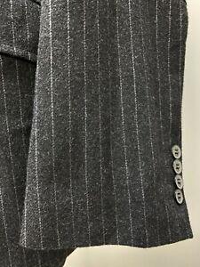 Pierre Cardin Men's Wool Grey Striped Blazer Jacket Size EU48 UK38