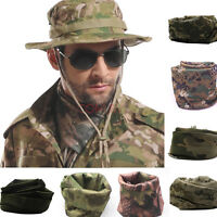 Mens Camo Mesh Tactical Neck Scarfs Hiking Camping Army Outdoor Wrap Face Vail