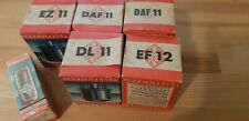 TELEFUNKEN OLD TUBES IN ORIGINAL PACKAGING DL11, EZ11, DAF11, DF11, ECH81