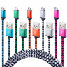 CHARGEUR UNIVERSEL MICRO USB CABLE DATA SYNC POUR SAMSUNG WIKO SONY HTC 1m 2m 3m