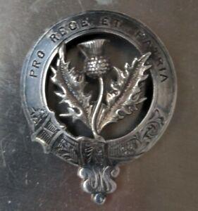 Antique Cameron Scottish Sterling Clan Badge PRO REGE ET PATRIA 18g Circa 1900s
