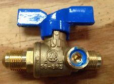 Propane Natural Gas Cut Off Valve 3/8 Flare x 3/8 Flare w/ Side Tap