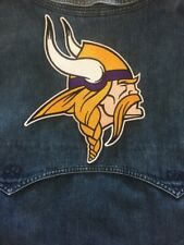 "MINNESOTA VIKINGS PATCH LOGO STYLE SUPER BOWL 8"" X 8.5"" EMBROIDERED JACKET STYLE"