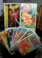 Flash DC Comic Book Lot of 11 #301-306 308 316 320 1989 Annual G-FN Nice Lot!