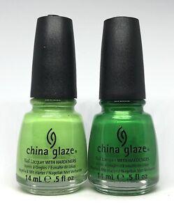 china glaze nail polish Entourage 719 + Paper Chasing 720 Green Emerald Bright