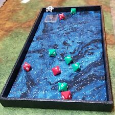 Turquoise Oil Slick Metallic Dice Tray, Gaming Tray