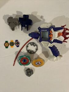 2001 Beyblade Dragoon Shooter - Electronic Launcher (powers On) + Extras