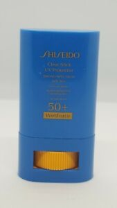 SHISEIDO Clear Stick UV Protector SPF 50+ Wet Force For Face/Body 0.52oz UNBOX