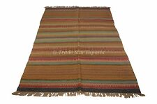 Area Rug Large Kilim Runner 4x6 Floor Carpet Oriental Reversible Boho Floor Mat