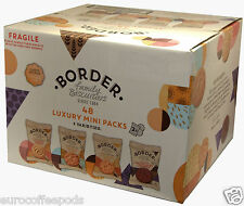 2 x Border Biscuits 48 in a box (4 Varieties) Luxury Mini Packs, 192 Biscuits