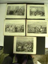GRAVURES  SUR ACIER (5) EVENEMENTS HISTORIQUES DE FRANCE DEPUIS 1500 -Grav II/II