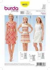 Burda Sewing Pattern 6653 Misses Cut Out Waist Dresses Size 6-16 Euro 32-42