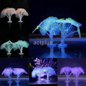 Creative Fluorescence Coral Ornament Aquarium Home Decor Fish Tank Accessories a