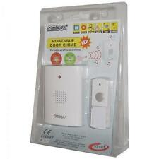 Omega 17101 Battery Powered Cordless Wireless Door Bell Chime Weatherproof White