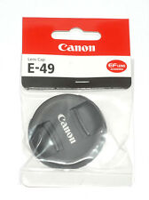 Objectif Canon couvercle 49 mm lens cap e-49 avec poignée intérieur (Nouveau/Neuf dans sa boîte)