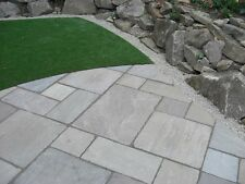 Grey Indian  sandstone paving slabs kandla calibrated premium grade