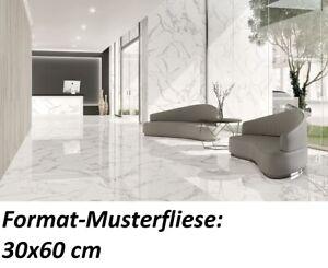 Muster Tau Torano Bodenfliese Marmoroptik 90x180 statuario-weiß poliert 1.Wahl