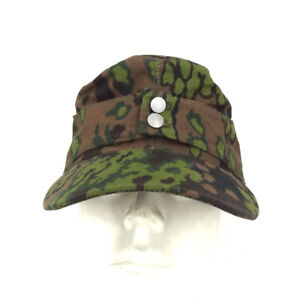 WWII German Elite Army M43 Spring Oakleaf Camouflage Cotton Cap Hat Size EU 60