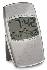 Reloj Despertador pantalla LCD Digital mundo con tiempo de Auto Set y repetición de alarma