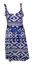 Desigual bonito vestido de verano azul-blanco talla L = es 38/40 modelo Vest andrew