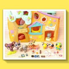 🎀 Littlest Pet Shop LPS Clubhouse Treehouse + 8 Pets Accessories Starbucks
