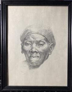 Hughie Lee-Smith Limited Print ~ HARRIET TUBMAN PORTRAIT ~ 15/200 SIGNED